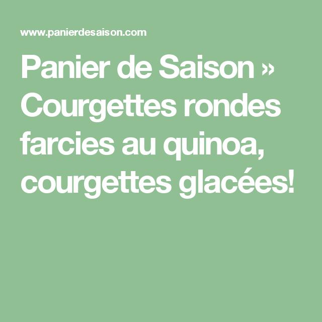 Courgettes rondes farcies au quinoa | Recette (avec images ...