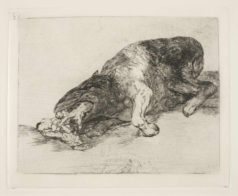 Goya, Fiero monstruo! (Fierce Monster) 1814-15 / Desastres de la ...