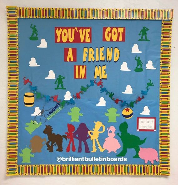 Toy Story Inspired Bulletin Board Font & Decorations- You've Got a Friend in Me