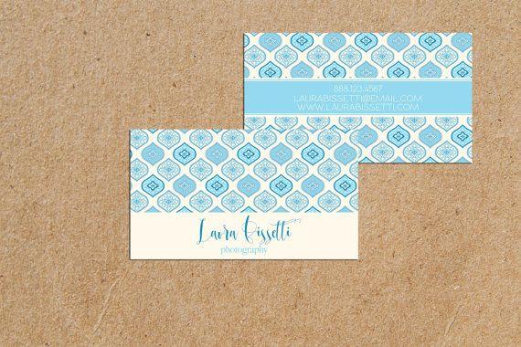 Elegant blue moroccan pattern modern calligraphy by iloladesign