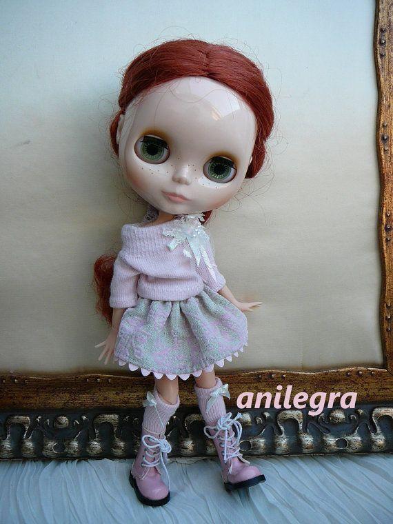 colores del traje de color rosa muñeca del blythe y pullip