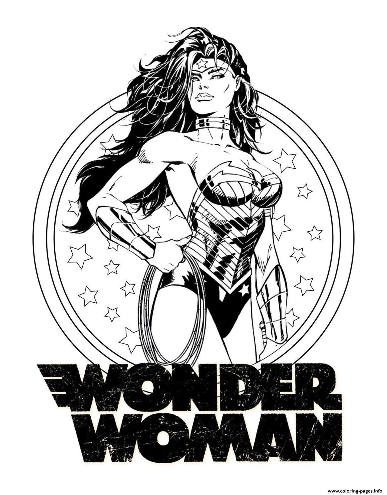 Print Wonder Woman For Adult Dc Ics Coloring Pages Wonder