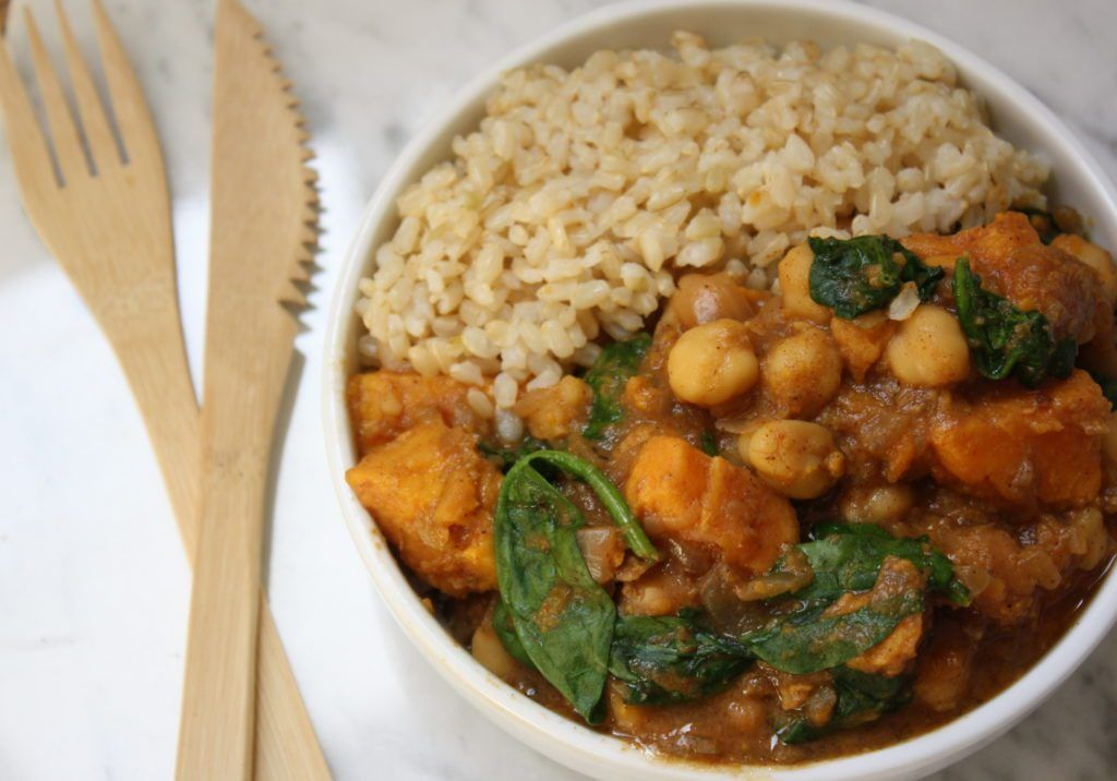 WInter Miso Chickpea Sweet Potato Stew
