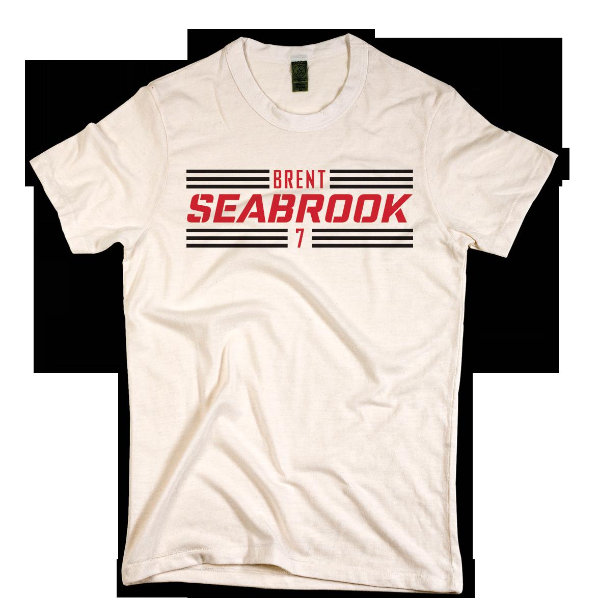 Brent Seabrook Striped Black Font