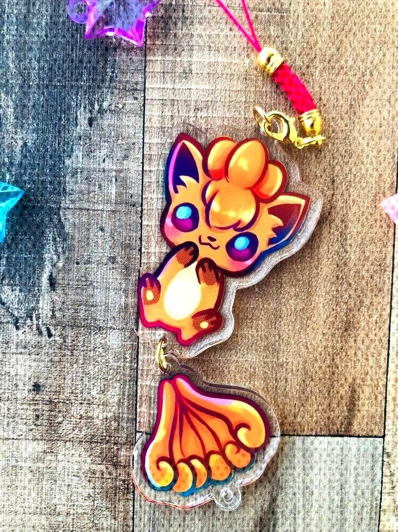 Pokemon Dangling Tail Charms made by penguinbigbro -