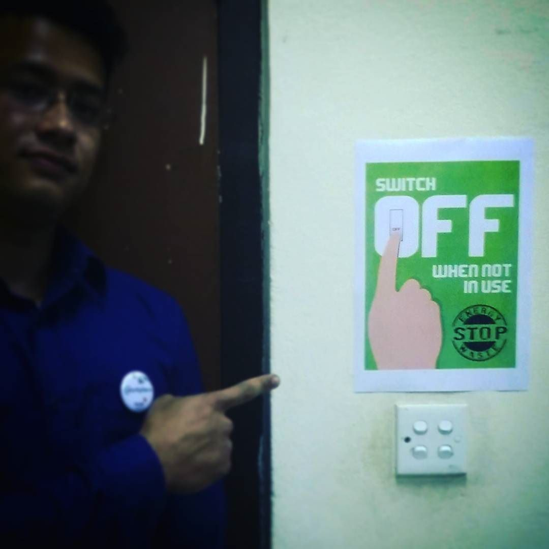 Sustainability Simply Lies In Your Finger Tips Remember To Turn Off Electricity The When Not Use Axiataworkplace Saveenergy