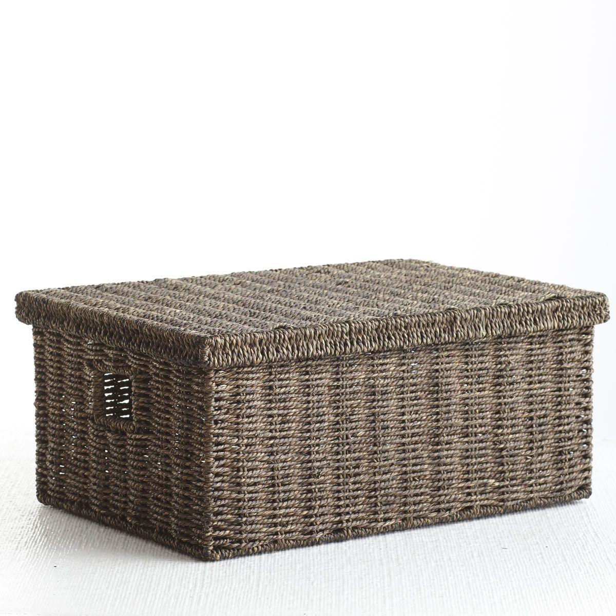 W8763Handmade Seagrass Basket