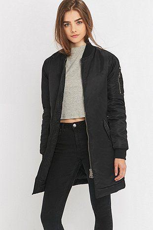 Schott NYC Stan Long Black Bomber Jacket | Love 사라ㅇ | Pinterest ...