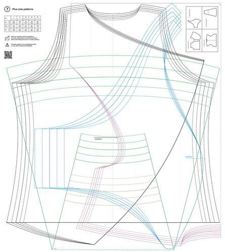 Patterns For Wet Felting / No.7 / Plus Size Patterns