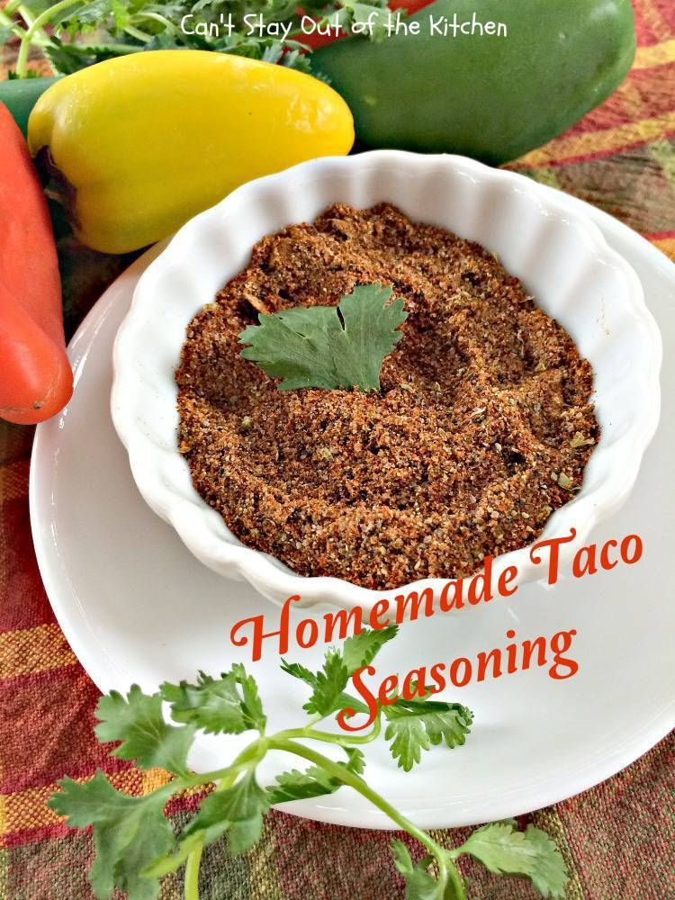 Homemade Taco Seasoning #maketacoseasoning Healthy alternative to taco seasoning packets at the grocery store. Gluten free, vegan, NO MSG, preservatives or fillers! #tacoseasoningpacket