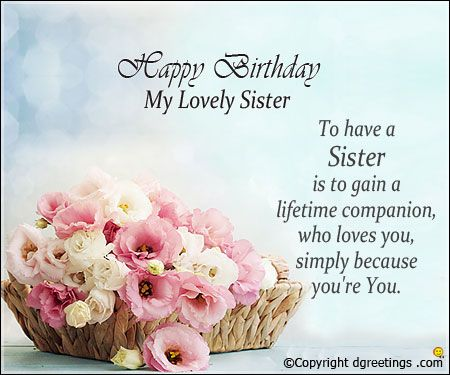 Happy birthday wishes to sister pics