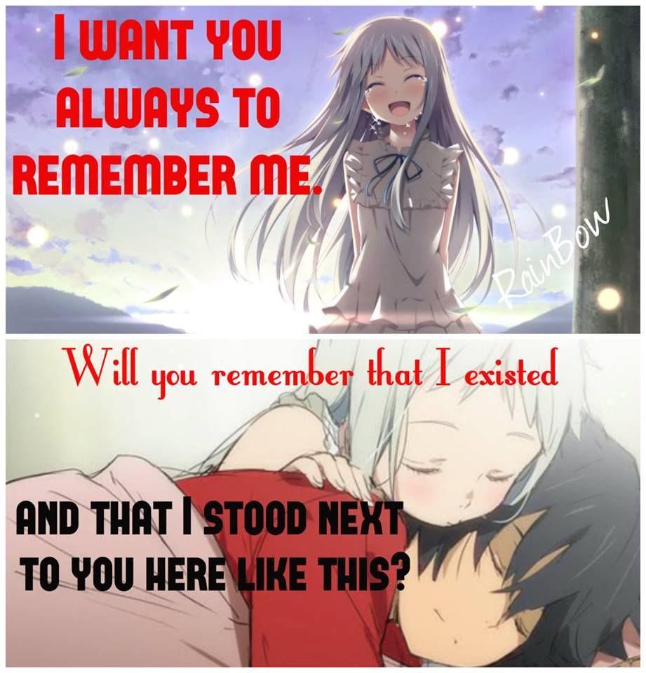 Anime Anohana Anime Quotes Anime Love Quotes Anime Qoutes