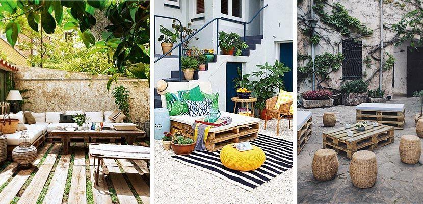 Construye tus muebles de jardín con palets