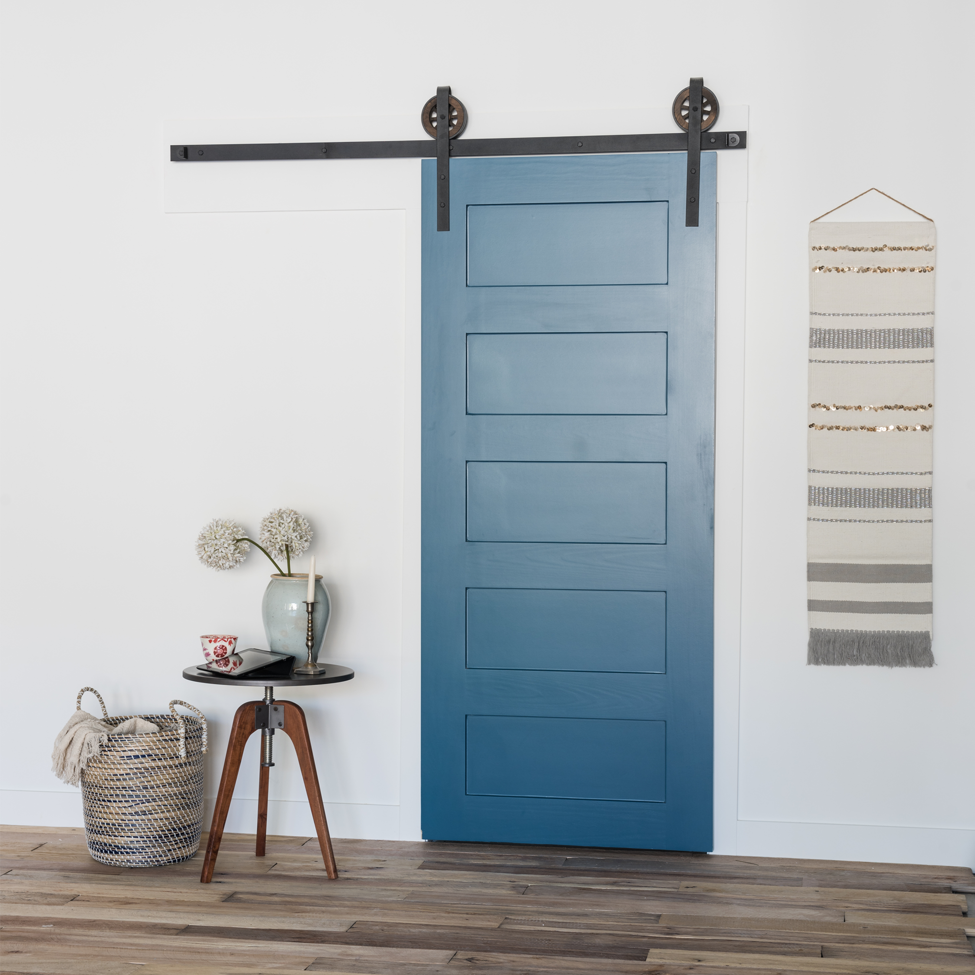 The 5 panel wood barn door is a more contemporary twist on old the 5 panel wood barn door is a more contemporary twist on old style doors eventelaan Choice Image