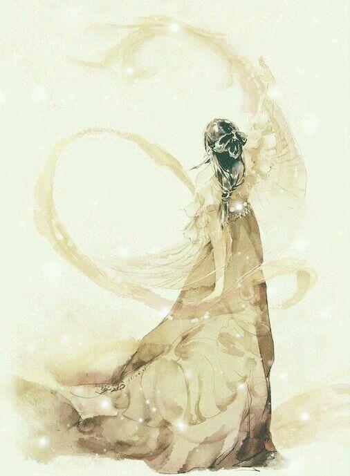 Tranh Cổ Trang-lượm Nhặt - bóng lưng