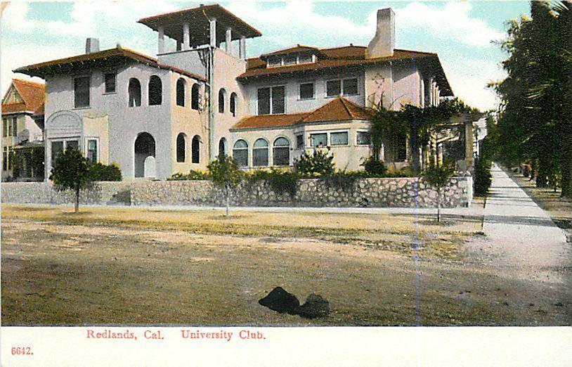 California Redlands Street View Of The University Club Ca 1910 Postcard Ebay California Postcard Redlands Street View