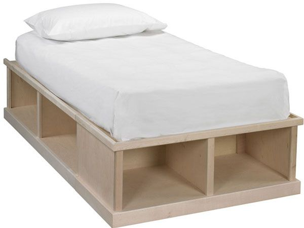 Twin Bed With Storage Real Wood Furniture Bare Wood Furniture Furniture