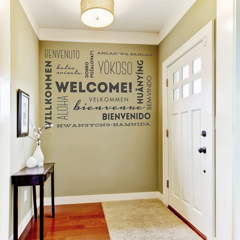 Making A Welcoming Statement In Your Home With This Welcome Wall Words Quote
