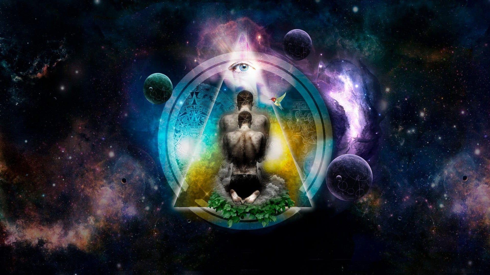 Multicolored Galaxy Digital Wallpaper Meditation Spiritual Digital Art Eyes Space 1080p Wallpaper Hdwallpaper In 2020 Spirituality Meditation Digital Wallpaper