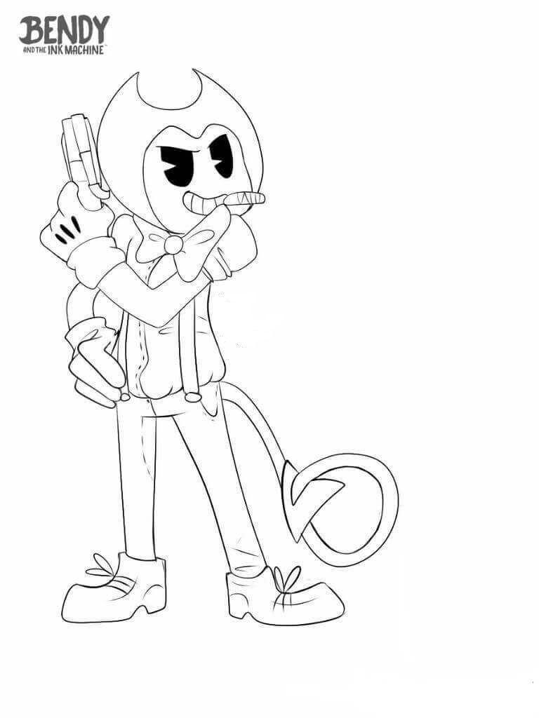 bendy and the ink machine coloring pages  cartoon