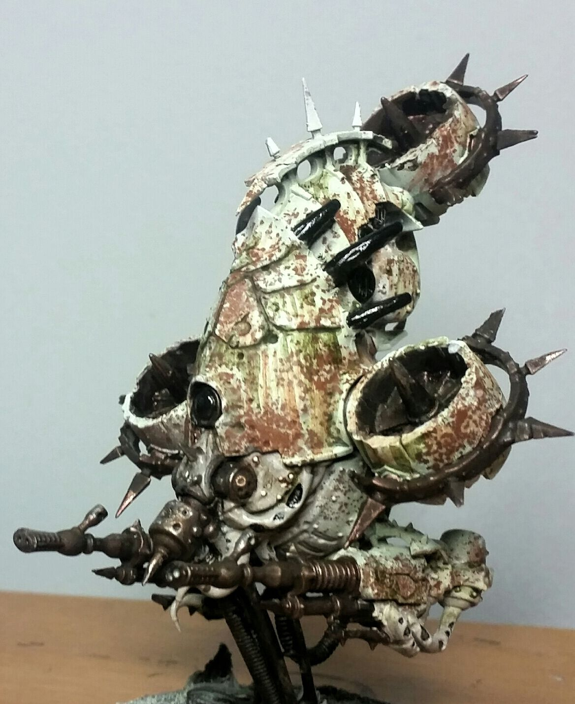 How To Do A Great Rust Effect With Salt Easily Tutorial Miniature Painting Mini Paintings Warhammer 40k Miniatures
