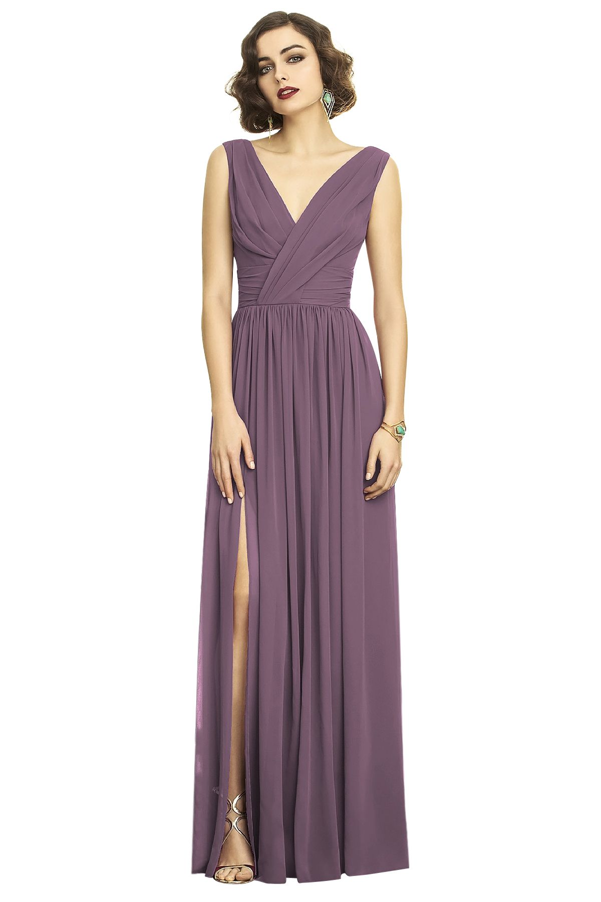 Dessy 2894 Bridesmaid Dress in Plum in Chiffon | Apartment | Pinterest