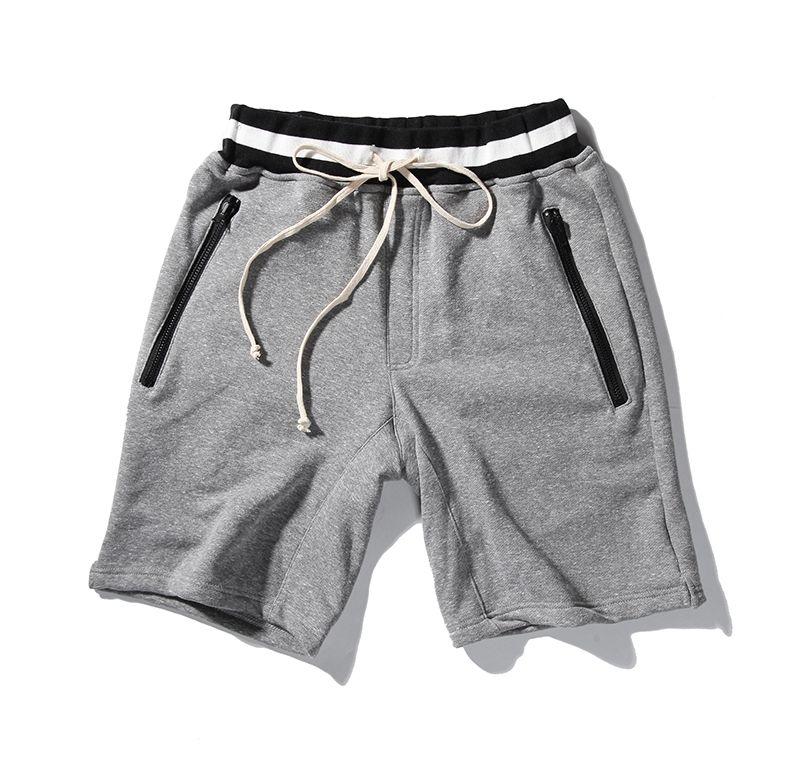 55a5c160c90b ... Pockets Zipper Clothing Fog Kanye West Shorts. 2017 Summer New Hip Hop  Basic Cotton Summer Shorts Men Elastic Waist Beach Shorts Fashion Casual  Shorts ...