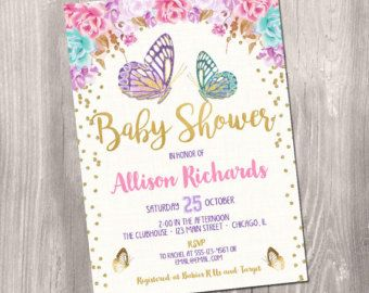 Butterfly Kisses Baby Shower Invitation By Modernbeautiful