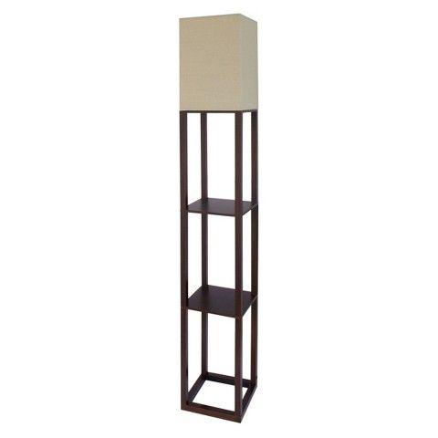Shelf Floor Lamp Brown Lamp Only   Threshold™
