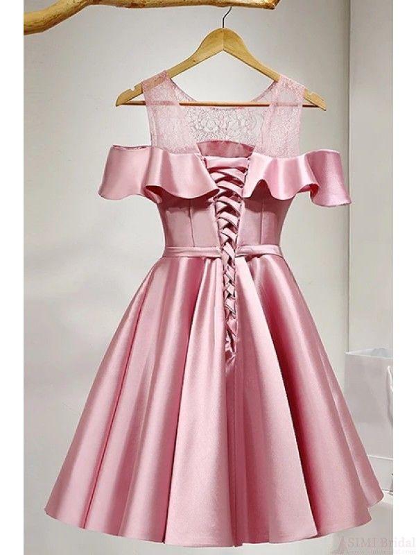 b5c64edd2134 Cute Off Shoulder Knot Knee Length Homecoming Dresses Party Dresses Prom  Dresses Cocktail Dresses Graduation Dresses(ED1853)