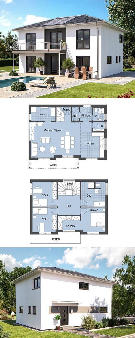 Walmdach Moderne Architektur moderne stadtvilla einfamilienhaus top s 149 hanlo haus