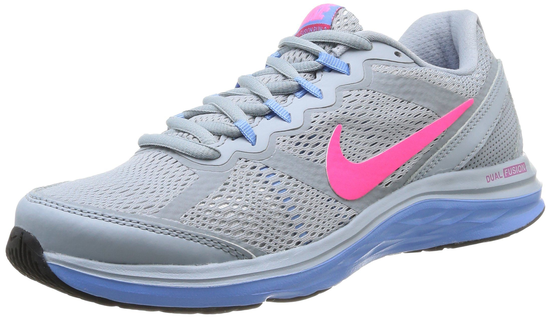 Nike 653594 002 Wmns Dual Fusion Run 3 Damen Sportschuhe - Running  Mehrfarbig (Lt Mgnt Gry/Hypr Pnk-White-Unv)