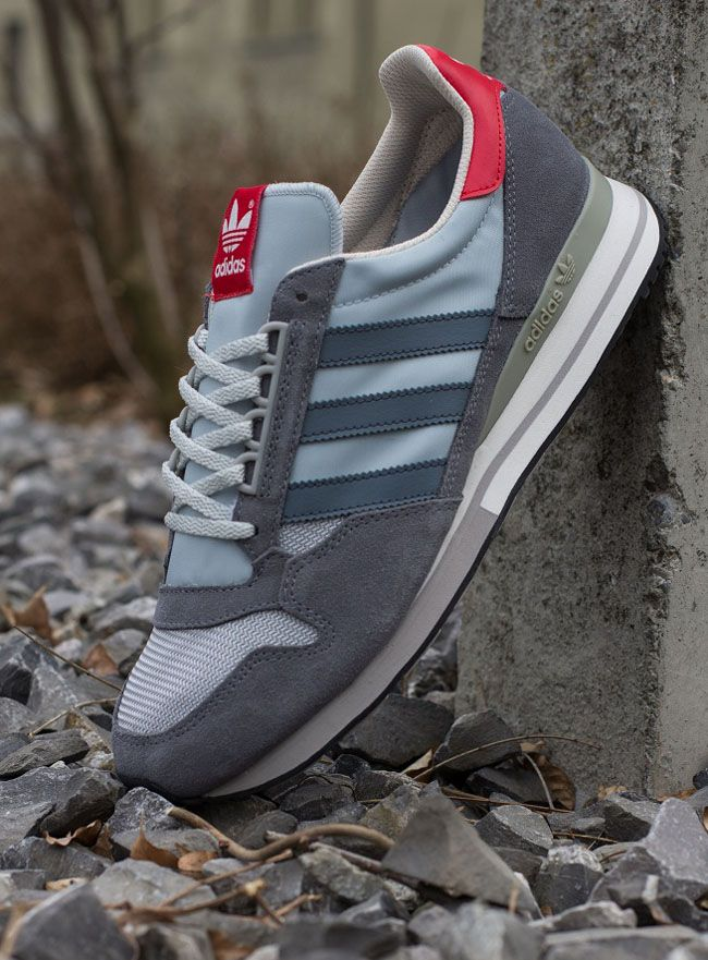 timeless design 036b0 fef20 adidas Originals ZX 500 OG  Grey  Collegiate Red