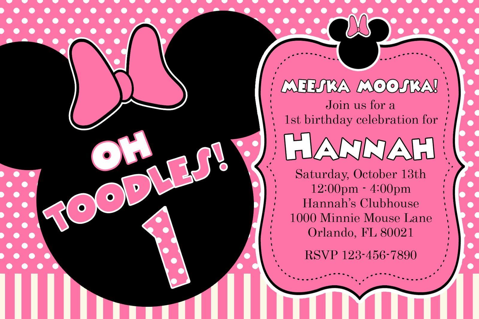 Nice Free Printable Minnie Mouse Birthday Party Invitations Minnie Mouse Birthday Invitations Minnie Invitations Minnie Mouse Invitations