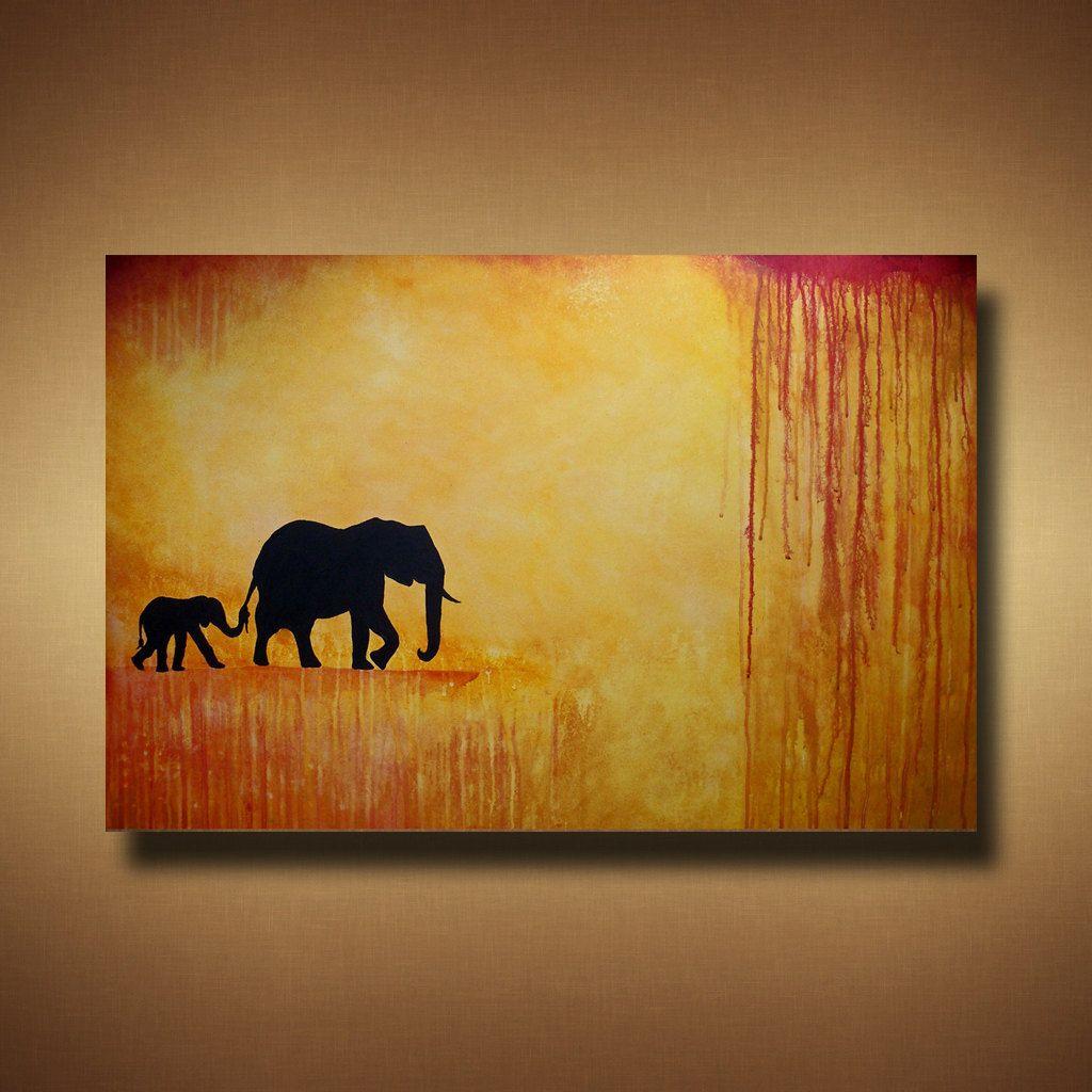 Elephants :) | Elephants | Pinterest | Paintings, Artsy and Acrylic ...