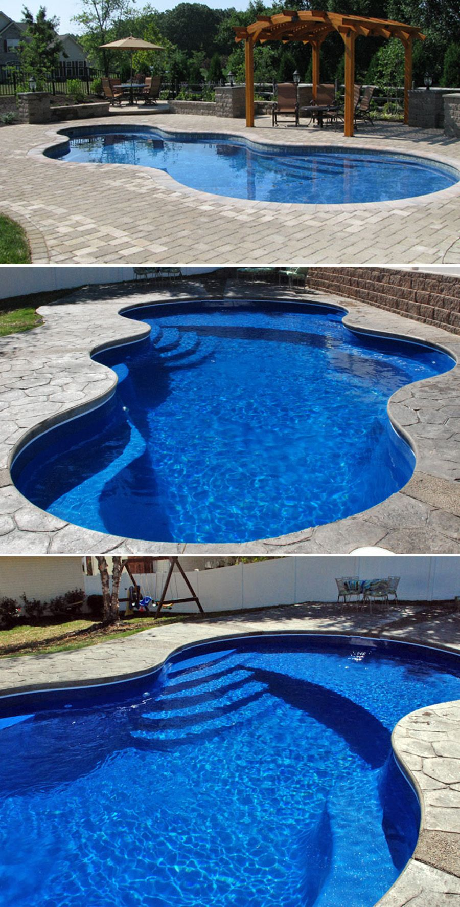The Axiom Is A Larger Version Of The Nebula Offering More Swimming Space Multiple Depths Swimming Pools Backyard Pools Backyard Inground Swimming Pool Designs
