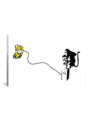 Banksy Monkey Detonator by iCanvasART