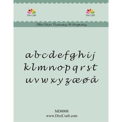 Dixi Craft Die - Alfabet (små bogstaver)