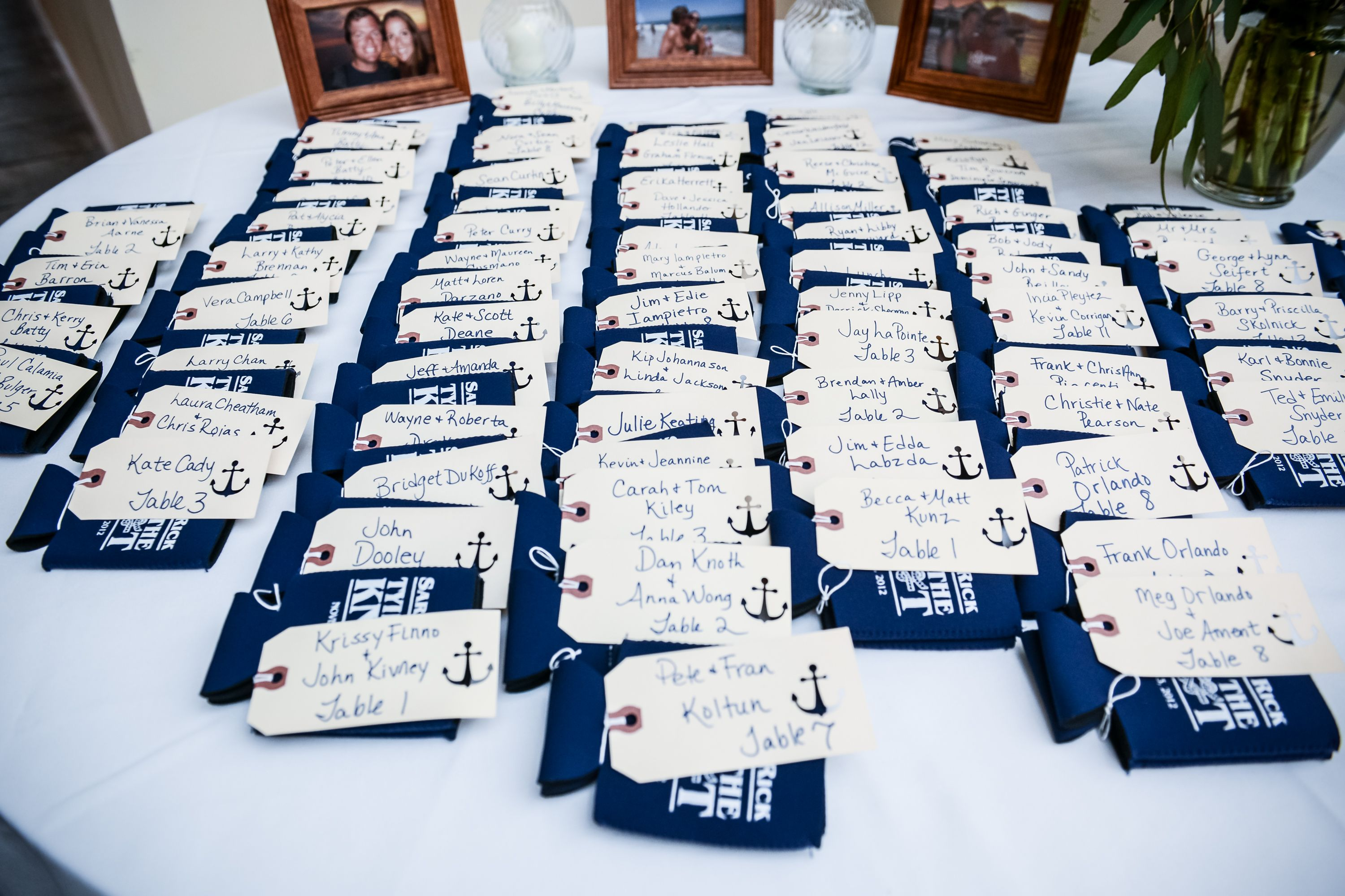 nautical themed wedding koozie favors by Lennon Photo | wedding ...