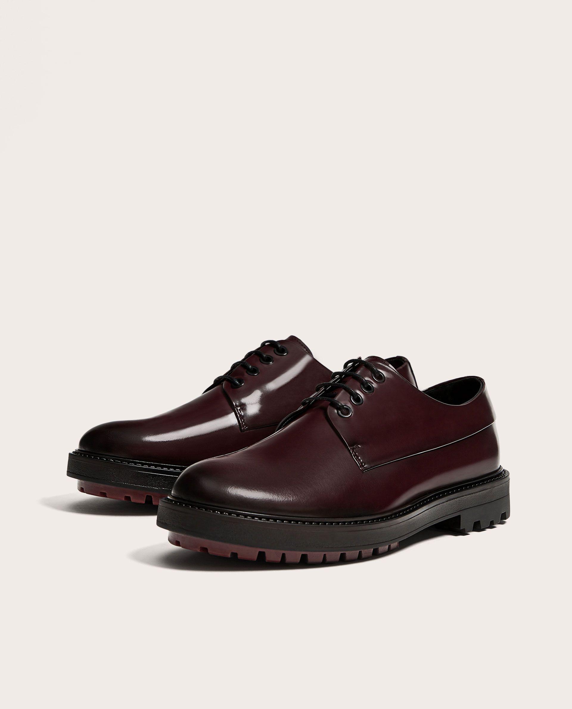 ZAPATO PIEL BURDEOS | Burgundy shoes, Blue leather shoes