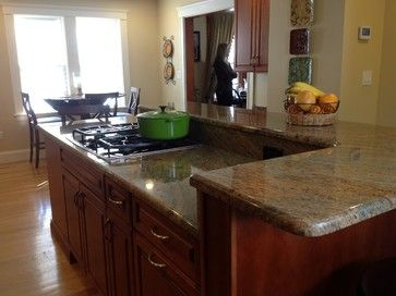 2 Tier Island Home Design Ideas Pictures Remodel And Decor Kitchen Island With Stove Custom Kitchen Island New Kitchen