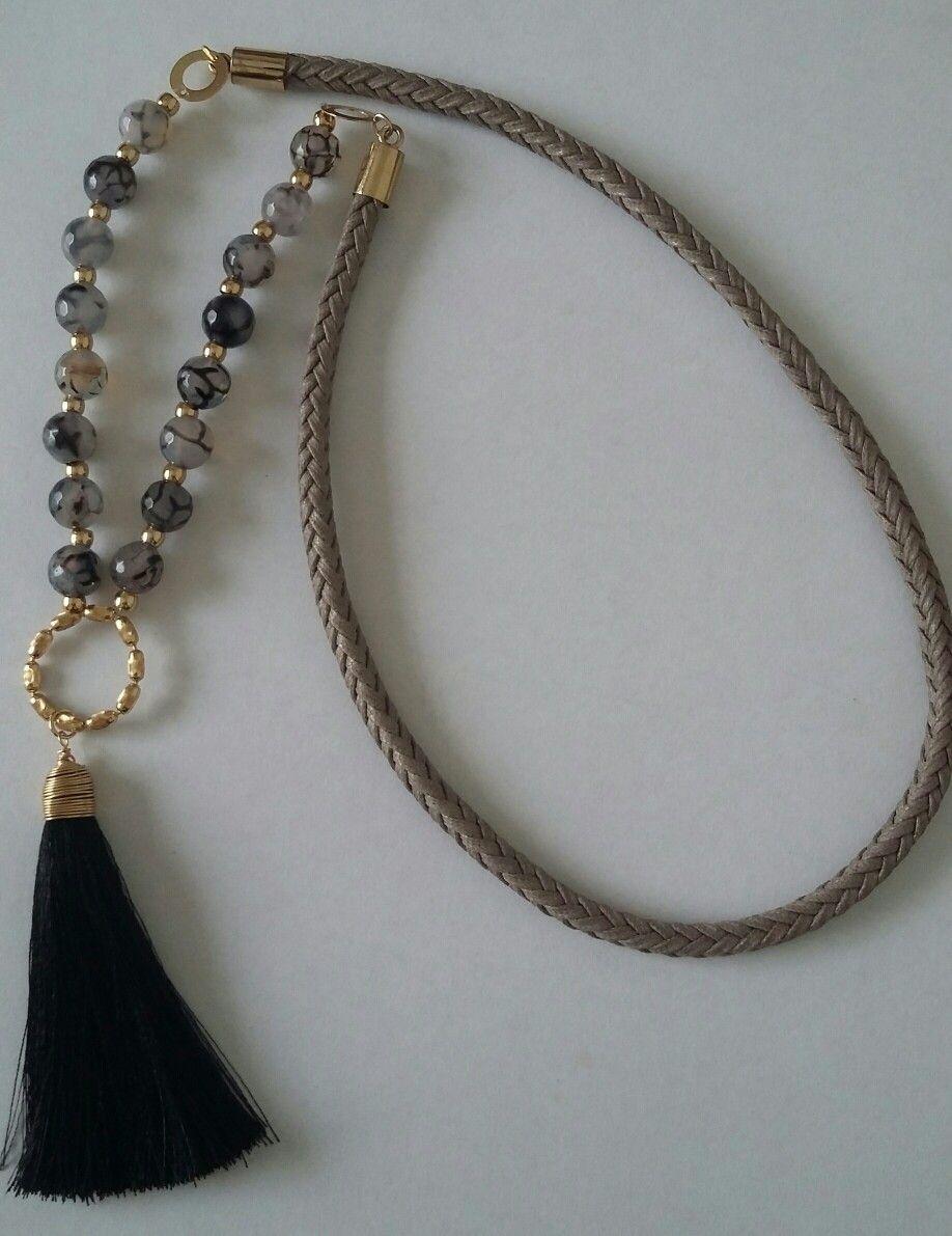 eb15bd34015e Collar largo de Creaciones Little Flower. Bisutería fina 100% artesanal.