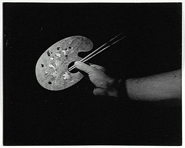 Brassaï, La palette de Dalì, 1955