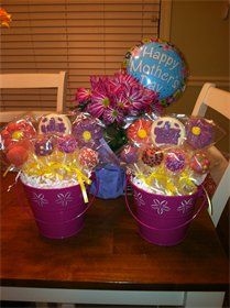Mother's Day Cake Pop Bouquets #cakepopbouquet