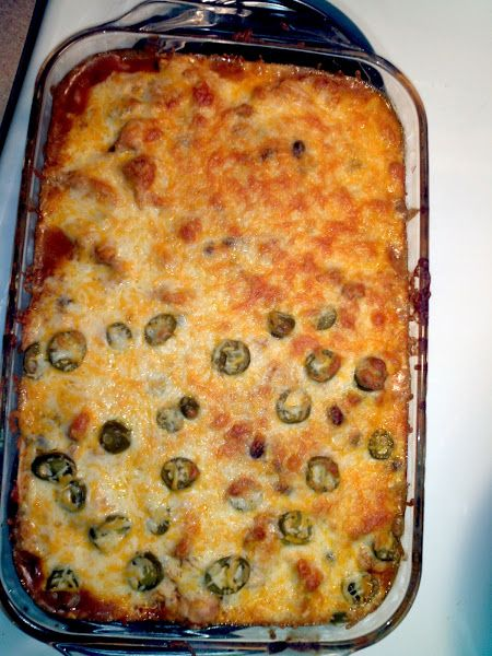 Haven't tried it yet. Miles of Cheesy Chicken Enchiladas Casserole! 4.62 stars,  AWESOME dish would recommend it to anyone. Easy to make and if u want to make it spicy you can use jalapenos,  instead of olives. Also good with some sour cream. @allthecooks