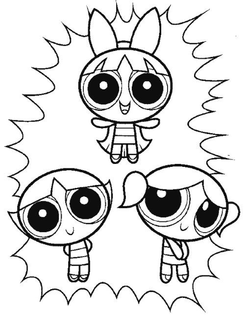 The Three Powerpuff Girls Funny Coloring Pages Desenhos Para