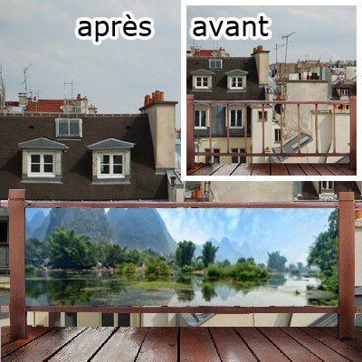 pare vue de terrasse et balcon occultez facilement la vue. Black Bedroom Furniture Sets. Home Design Ideas