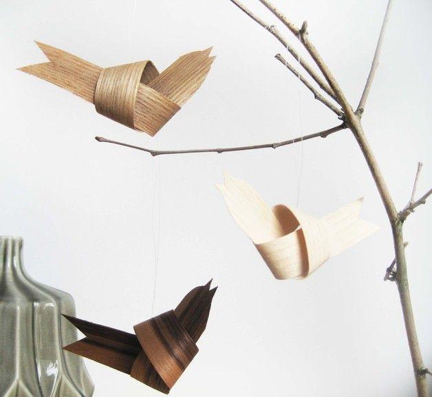 baumschmuck holz anh nger vogel christmas tree decoration wooden birds scandic pure. Black Bedroom Furniture Sets. Home Design Ideas