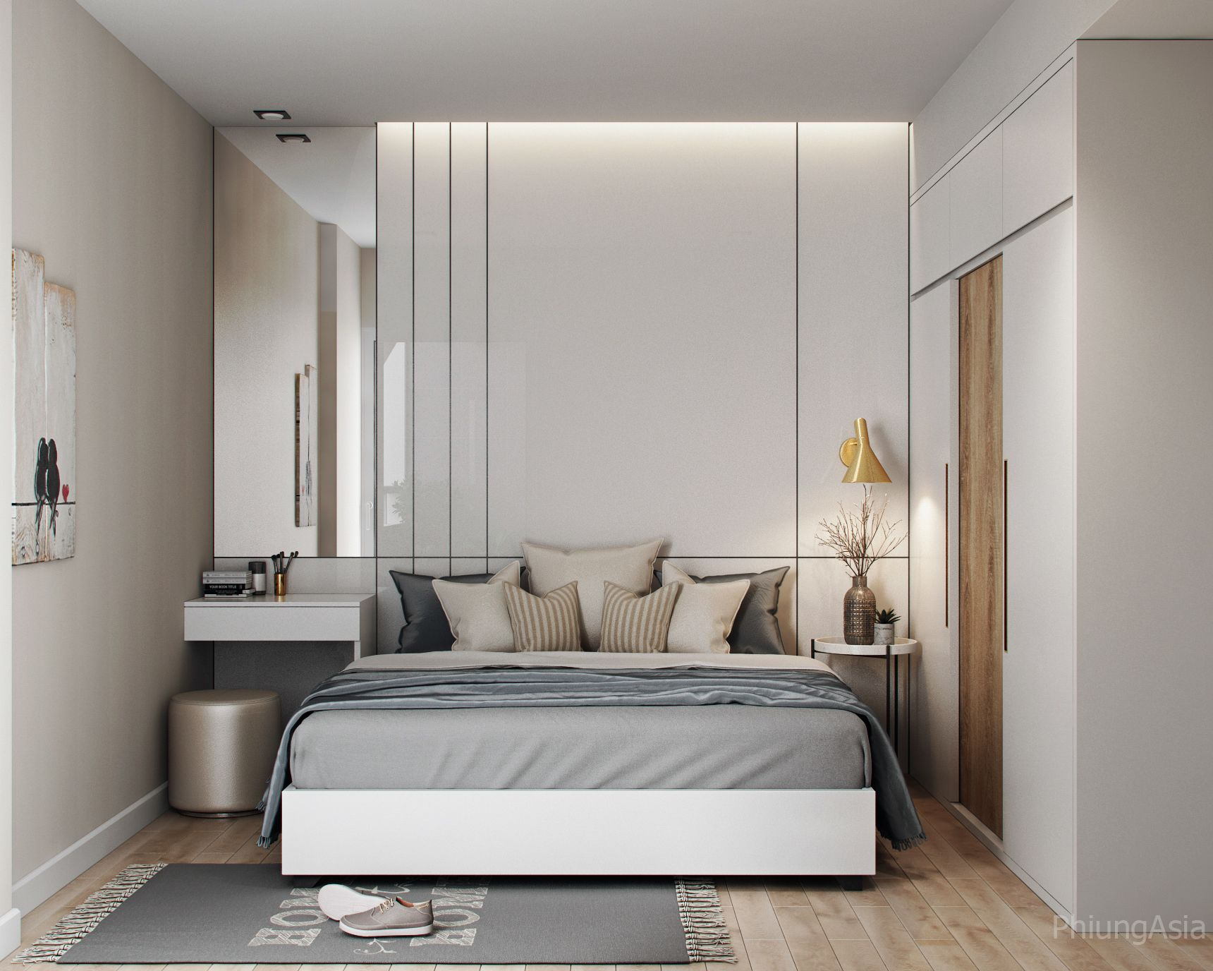 Behance Gallery 42648613 60m2 Apartment 1 Bedroom