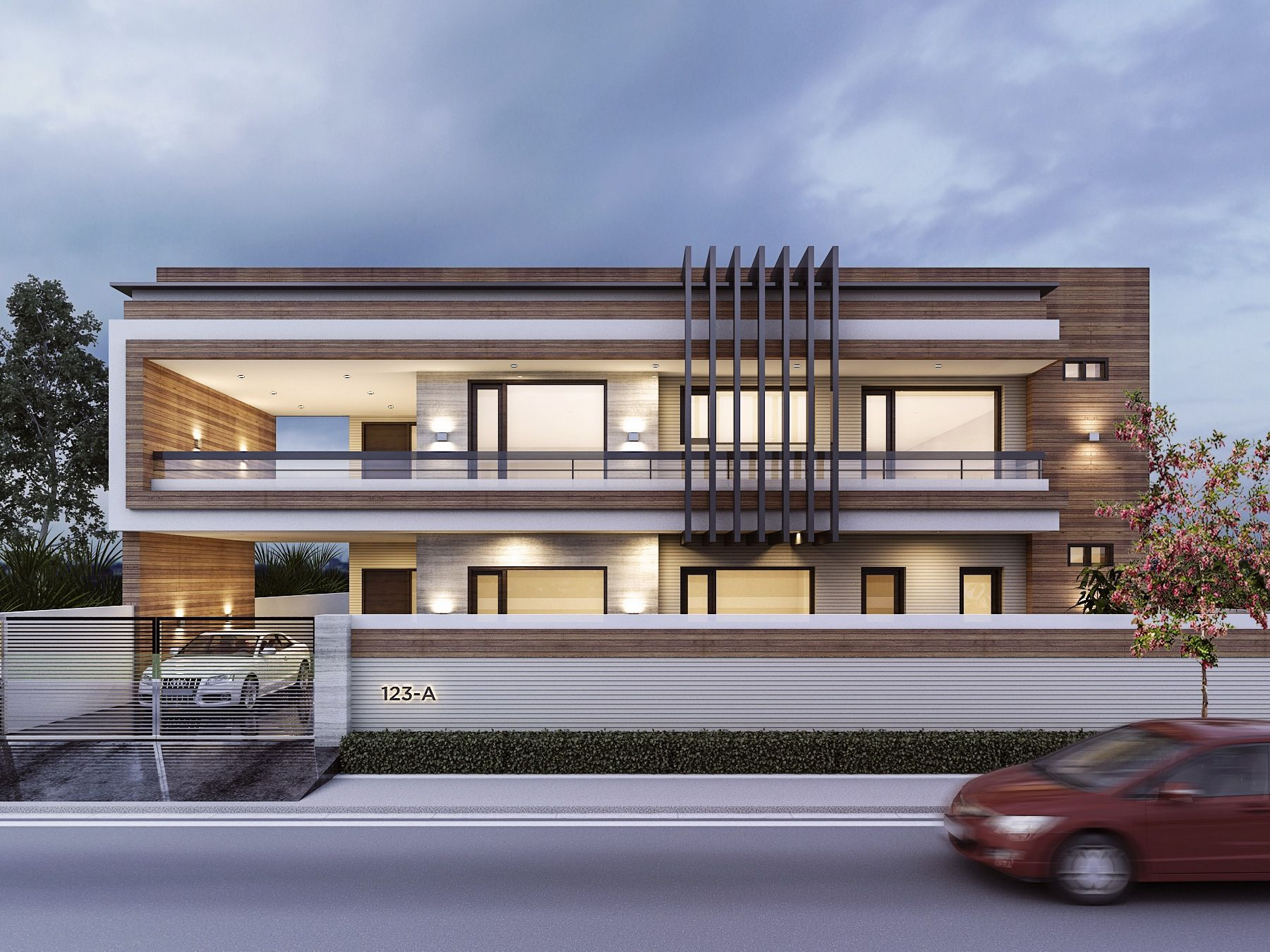 Front Elevation Antiques : Architectural previsualization renders favorites house